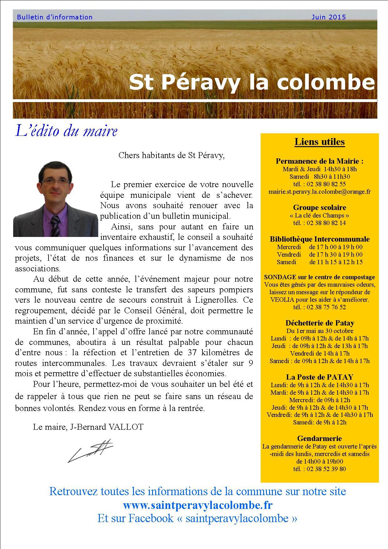 Bulletin juin 2015